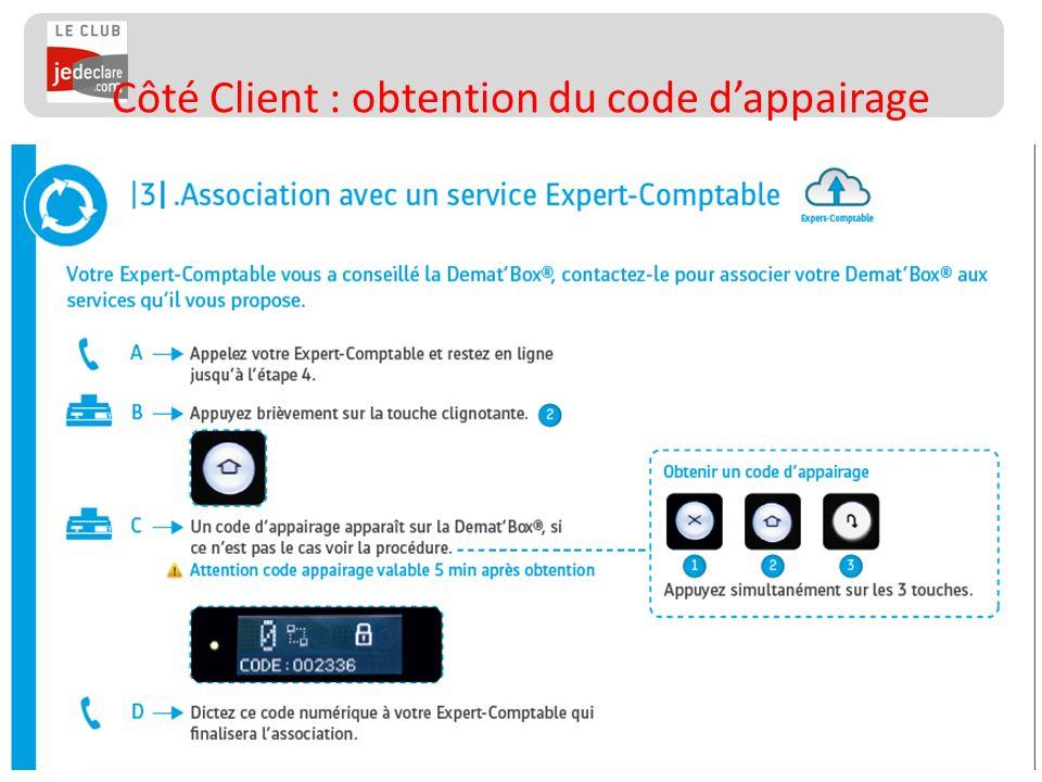 136 Côté Client : obtention du code dappairage