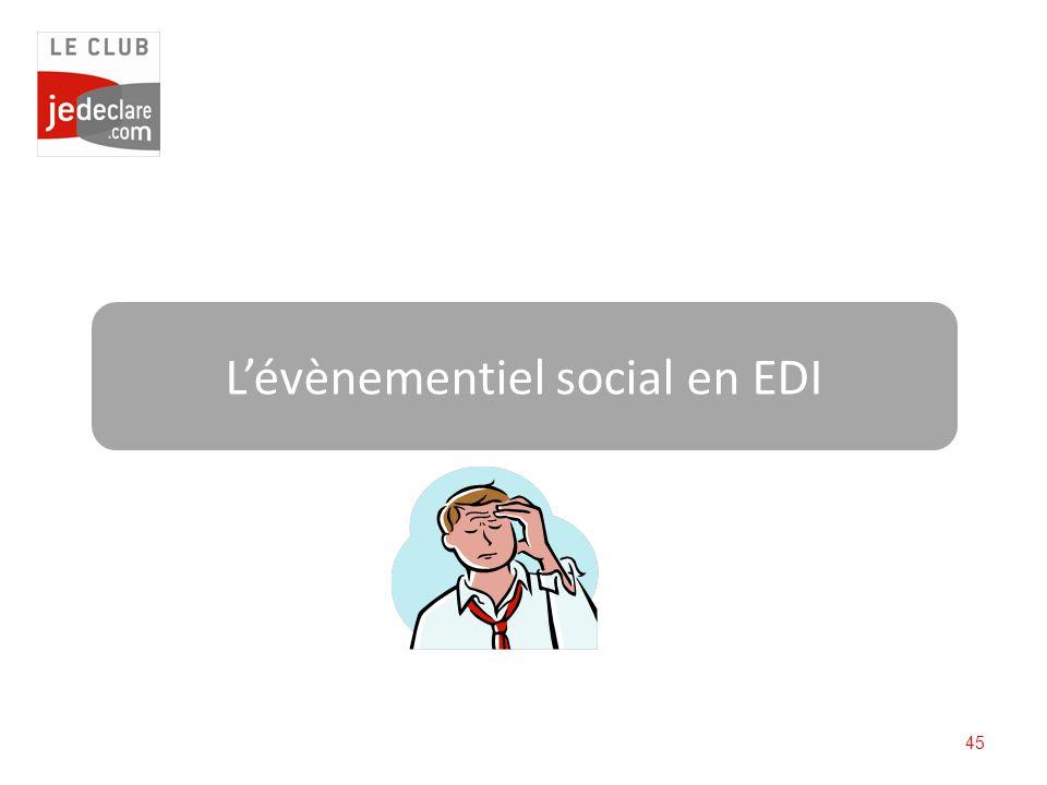 45 Lévènementiel social en EDI