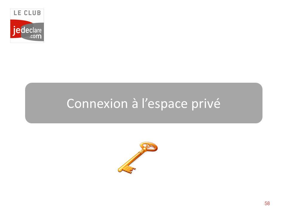 58 Connexion à lespace privé