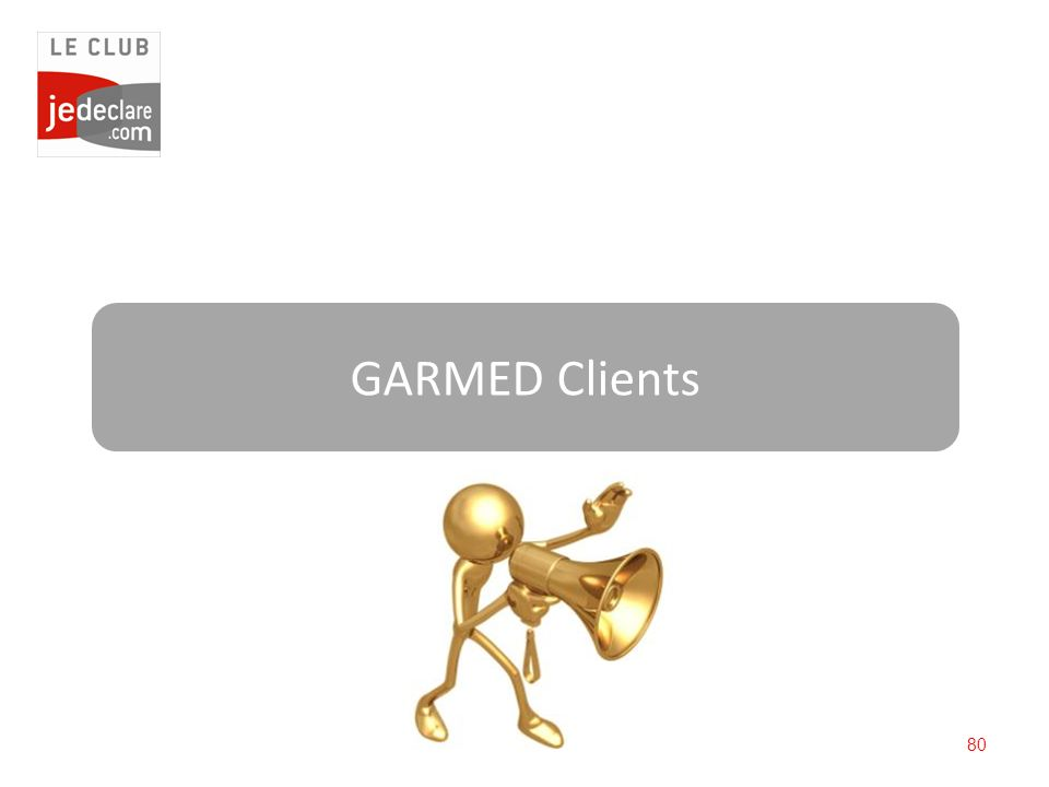 80 GARMED Clients