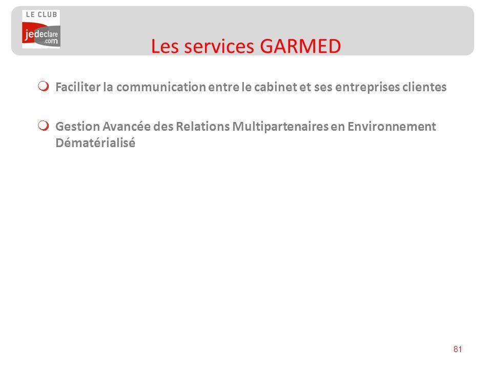 81 Faciliter la communication entre le cabinet et ses entreprises clientes Gestion Avancée des Relations Multipartenaires en Environnement Dématériali