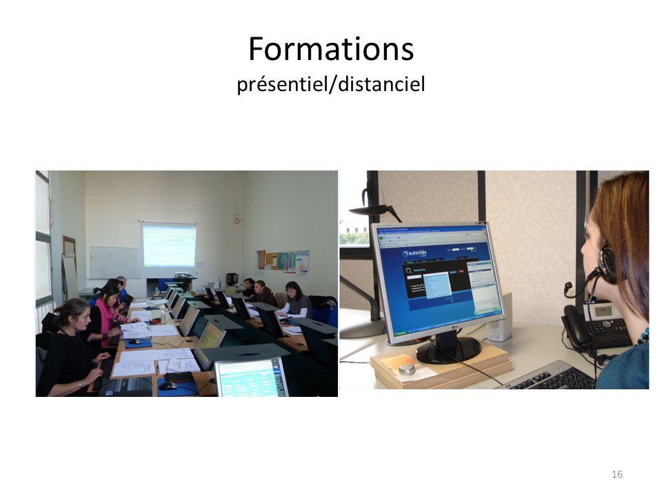 Formations présentiel/distanciel 16