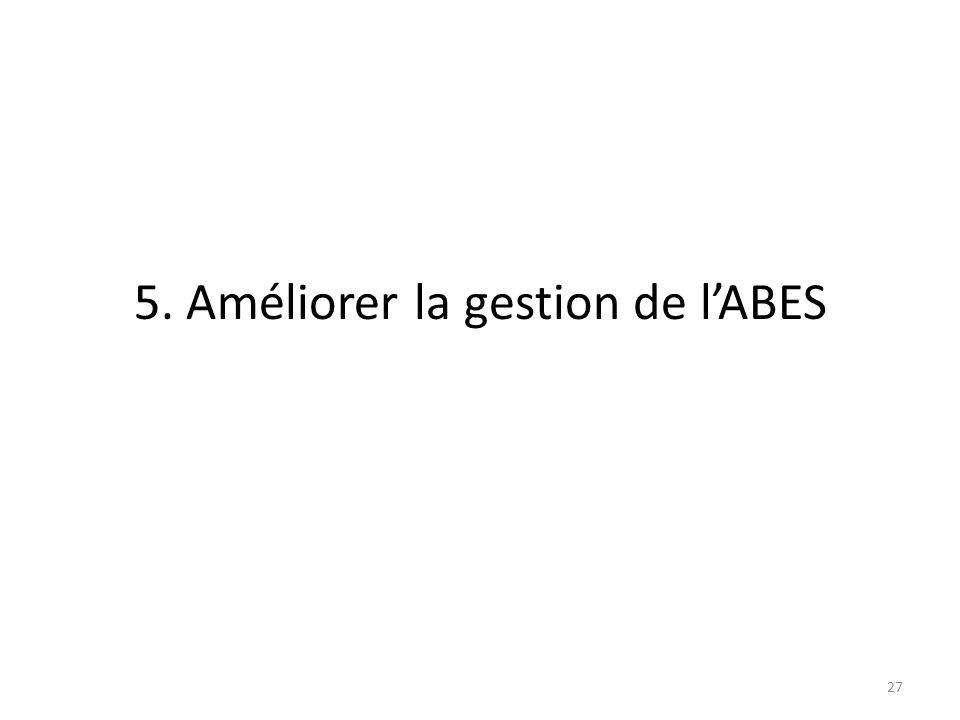 5. Améliorer la gestion de lABES 27