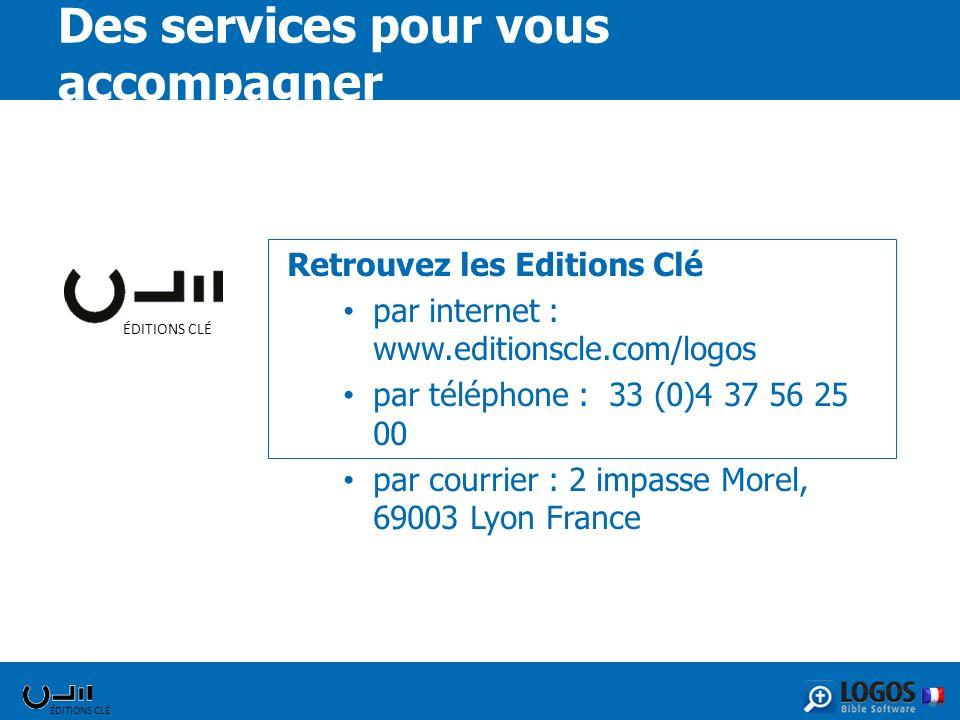 ÉDITIONS CLÉ Retrouvez les Editions Clé par internet : www.editionscle.com/logos par téléphone : 33 (0)4 37 56 25 00 par courrier : 2 impasse Morel, 6