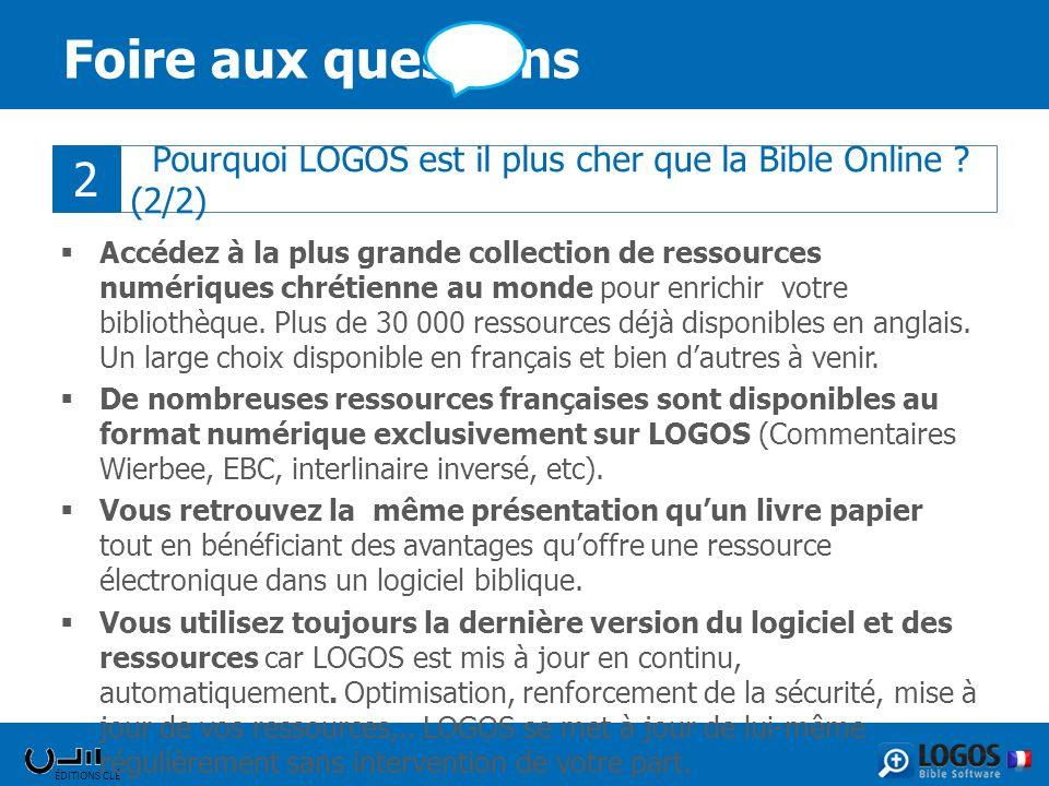 ÉDITIONS CLÉ Foire aux questions Accédez à la plus grande collection de ressources numériques chrétienne au monde pour enrichir votre bibliothèque. Pl