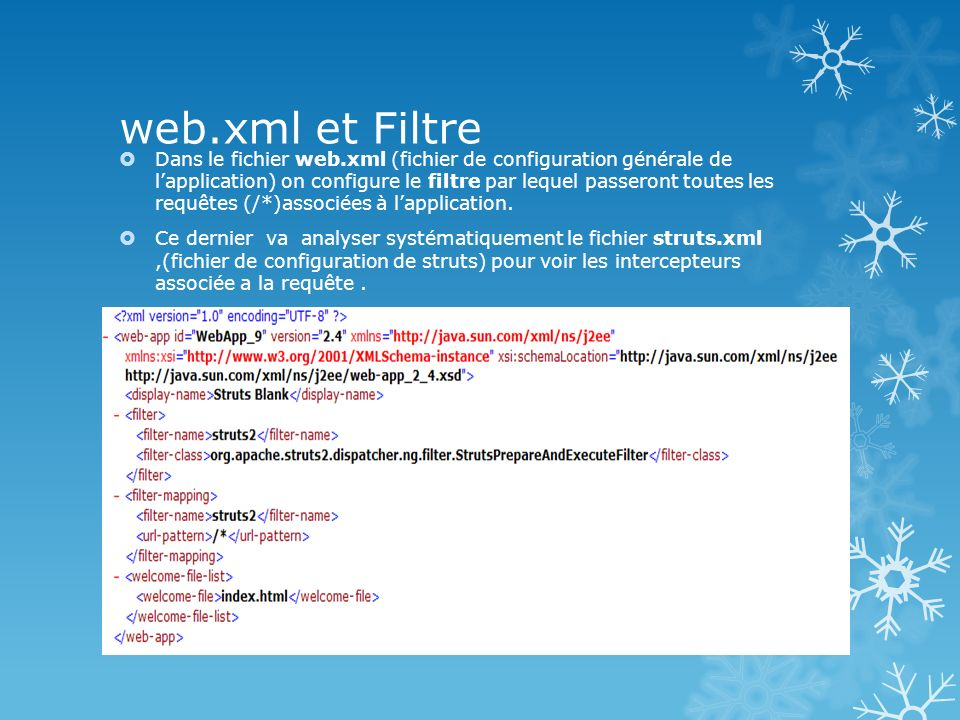 Login-validate.xml et Filtre Analyse du contenu du fichier Login- validate.xml.