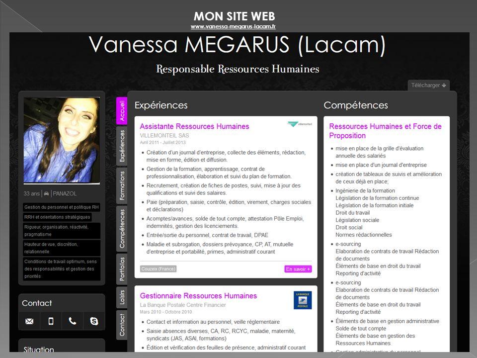 MON SITE WEB www.vanessa-megarus-lacam.fr