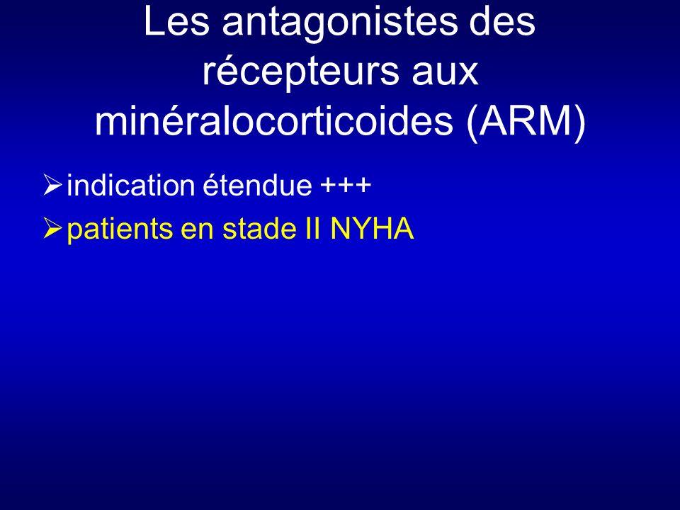 Les antagonistes des récepteurs aux minéralocorticoides (ARM) indication étendue +++ patients en stade II NYHA
