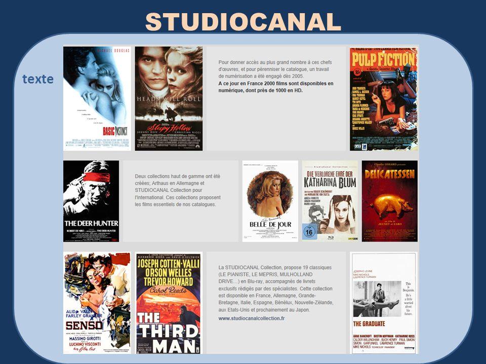 STUDIOCANAL texte Philippe Bellissent IPAG 2013-2014 Médias