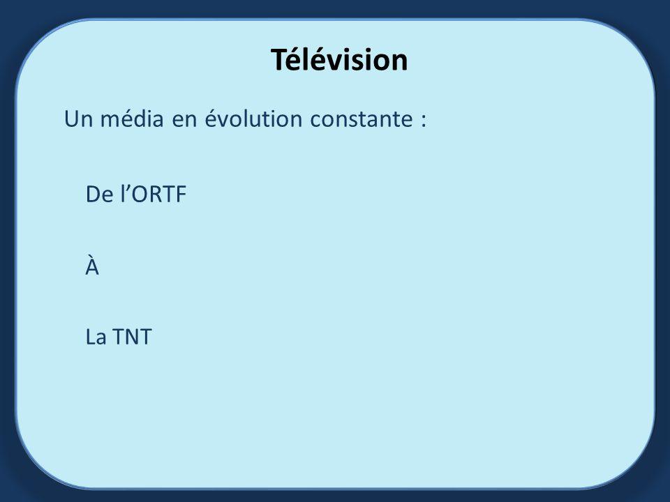 Télévision Un média en évolution constante : De lORTF À La TNT
