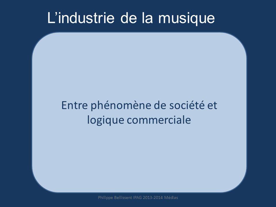 Lindustrie de la musique Entre phénomène de société et logique commerciale Philippe Bellissent IPAG 2013-2014 Médias