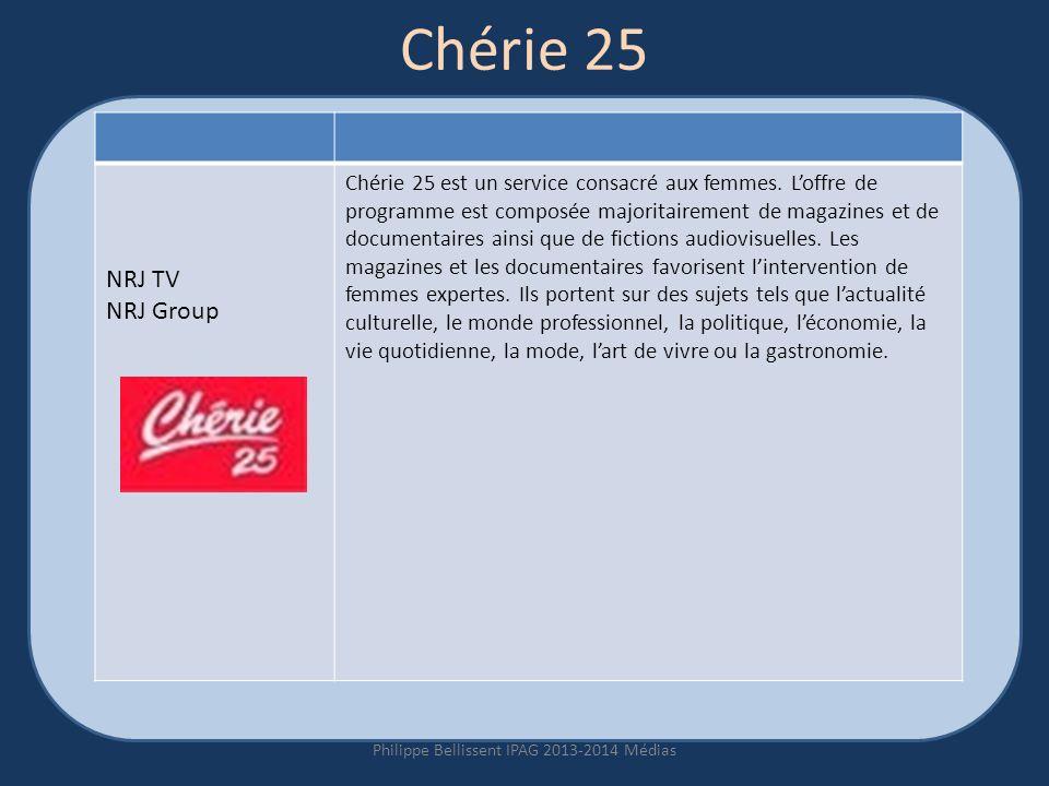 Chérie 25 Philippe Bellissent IPAG 2013-2014 Médias NRJ TV NRJ Group Chérie 25 est un service consacré aux femmes.