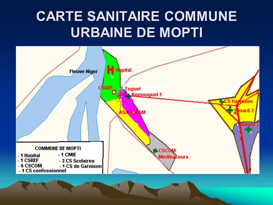 CARTE SANITAIRE COMMUNE URBAINE DE MOPTI