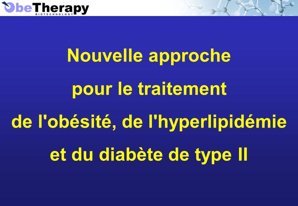 Nouvelle approche pour le traitement de l'obésité, de l'hyperlipidémie et du diabète de type II