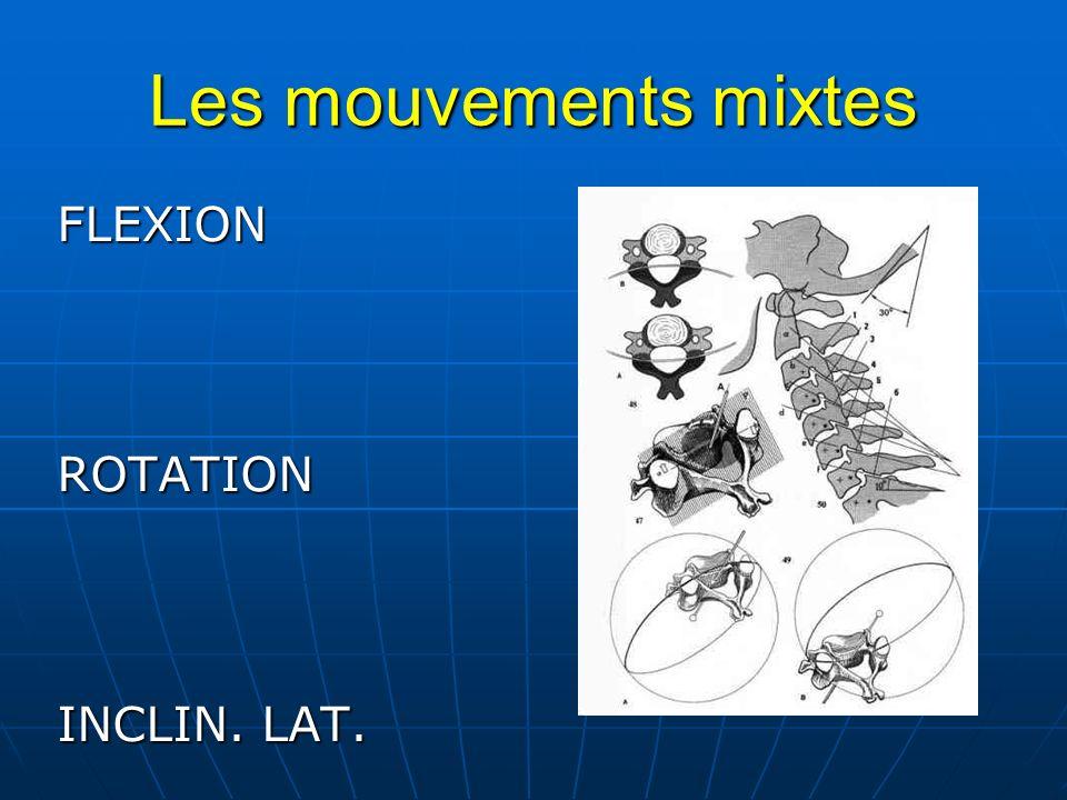 Les mouvements mixtes FLEXIONROTATION INCLIN. LAT.