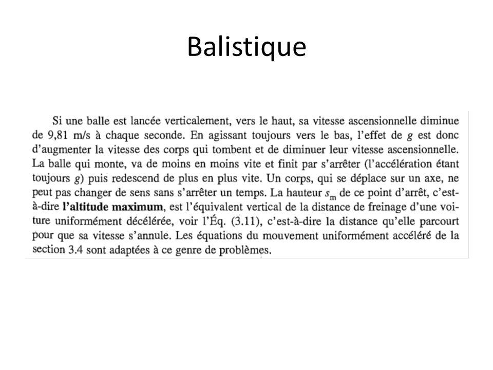 Balistique