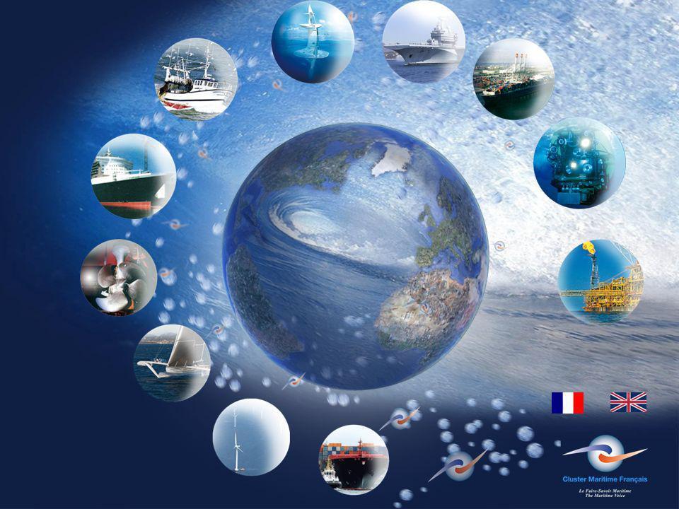 La France Une nation maritime Le cluster maritime représente en France :2.