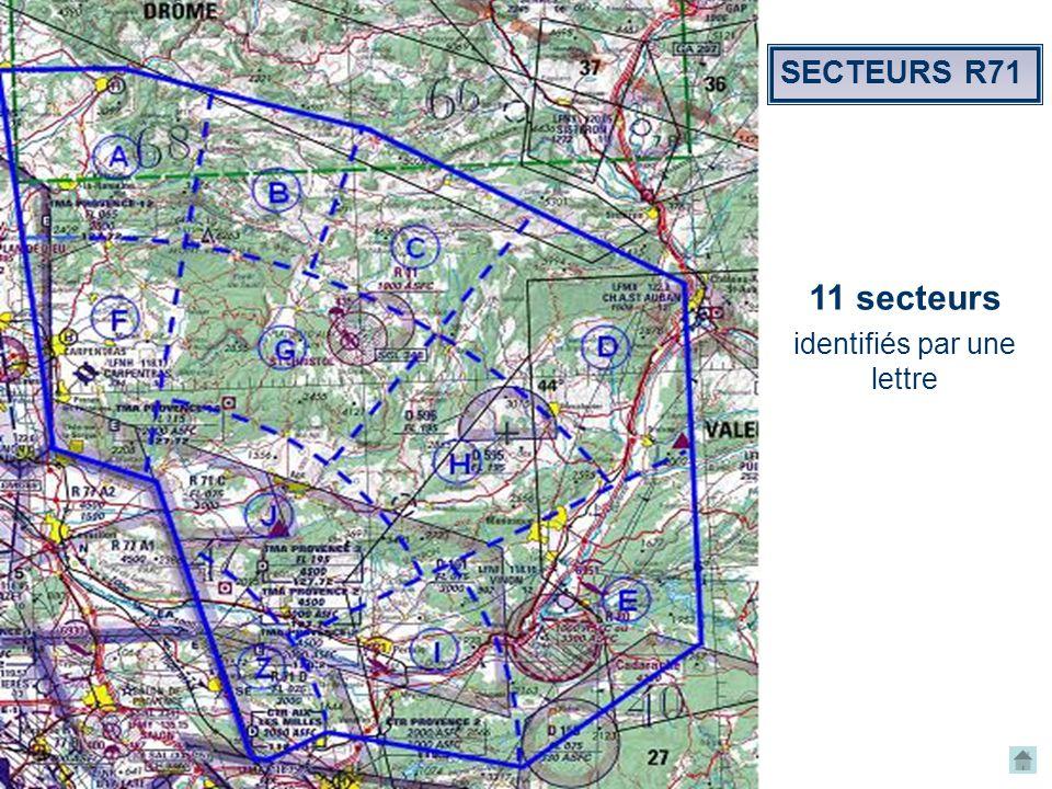 espace.aerien@ffvv.org 31 Janvier 2012espace.aerien@ffvv.org 11 secteurs identifiés par une lettre SECTEURS R71