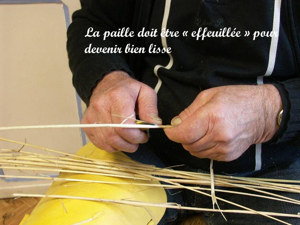 Le cabillou permet de faire un passage pour la bridoule qui va lier la paille