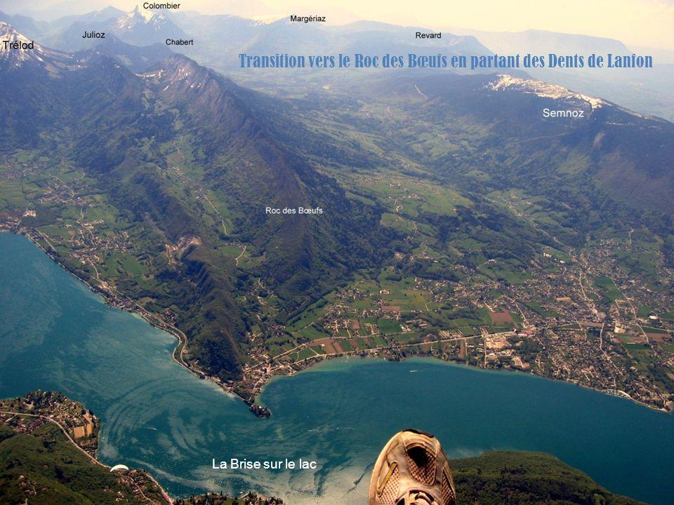 Transition vers le Roc des Bœufs en partant des Dents de Lanfon La Brise sur le lac