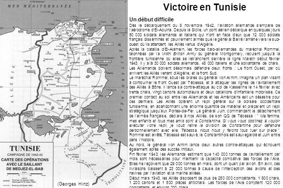 Un début difficile Dès le débarquement du 8 novembre 1942, l'aviation allemande s'empare de l'aérodrome d'El-Aouina. Depuis la Sicile, un pont aérien