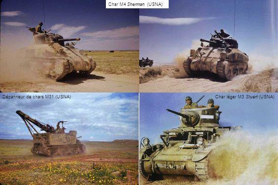 Dépanneur de chars M31 (USNA)Char léger M3 Stuart (USNA) Char M4 Sherman (USNA)