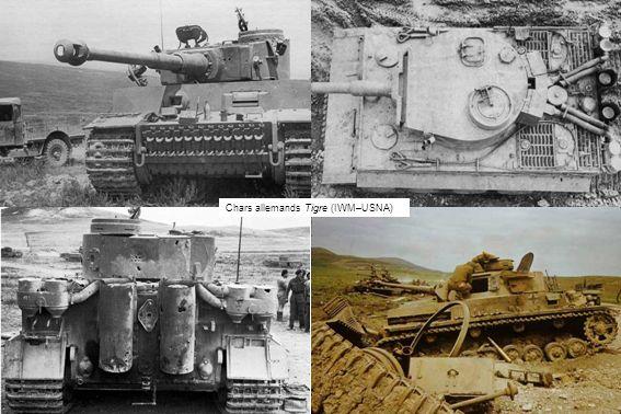 Chars allemands Tigre (IWM–USNA)