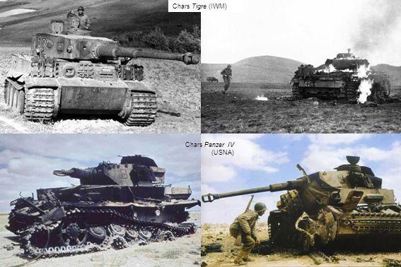 Chars Panzer IV (USNA) Chars Tigre (IWM)