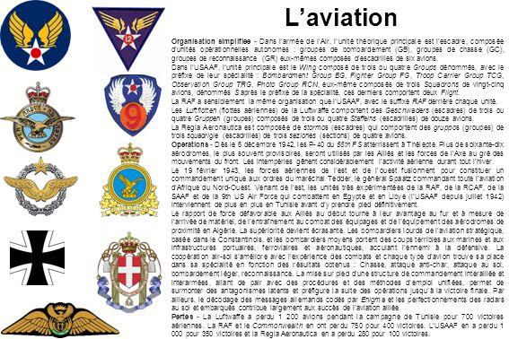 Laviation Organisation simplifiée - Dans larmée de lAir, lunité théorique principale est lescadre, composée dunités opérationnelles autonomes : groupe