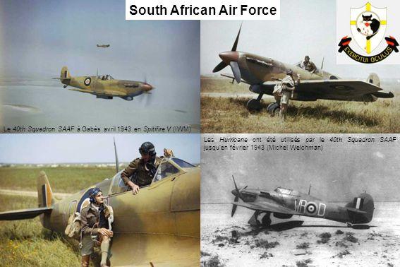 Le 40th Squadron SAAF à Gabès avril 1943 en Spitifire V (IWM) Les Hurricane ont été utilisés par le 40th Squadron SAAF jusquen février 1943 (Michel We
