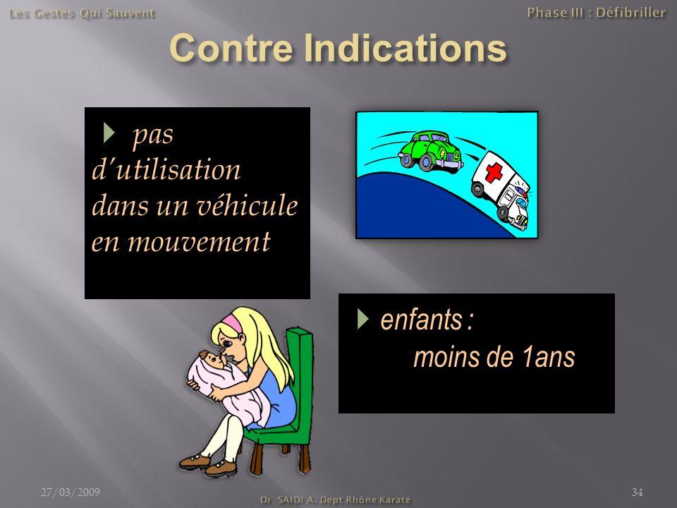 enfants : moins de 1ans pas dutilisation dans un véhicule en mouvement 27/03/200934