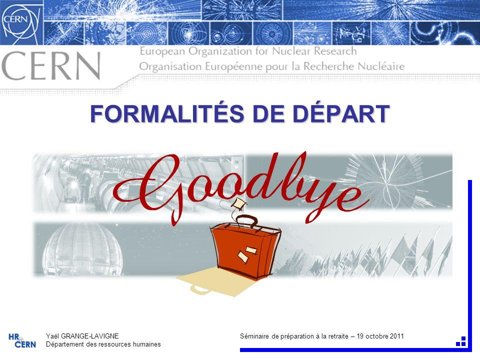 2/29 FORMALITÉS DE DÉPART 19 oct.