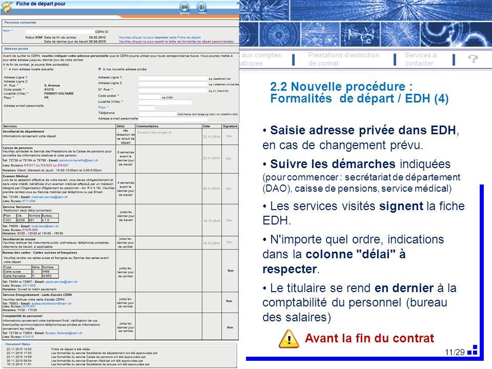 12/29 FORMALITÉS DE DÉPART 19 oct.