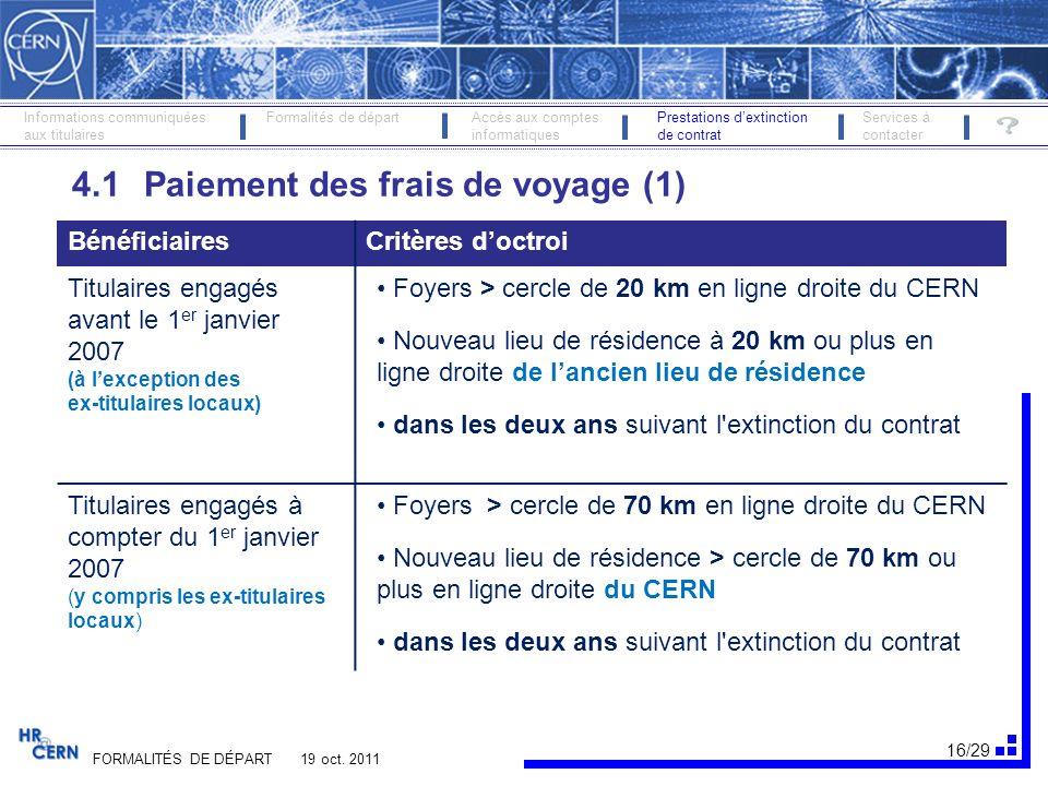 17/29 FORMALITÉS DE DÉPART 19 oct.