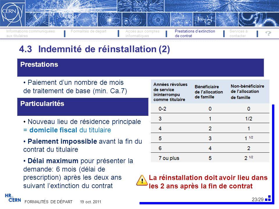 24/29 FORMALITÉS DE DÉPART 19 oct.