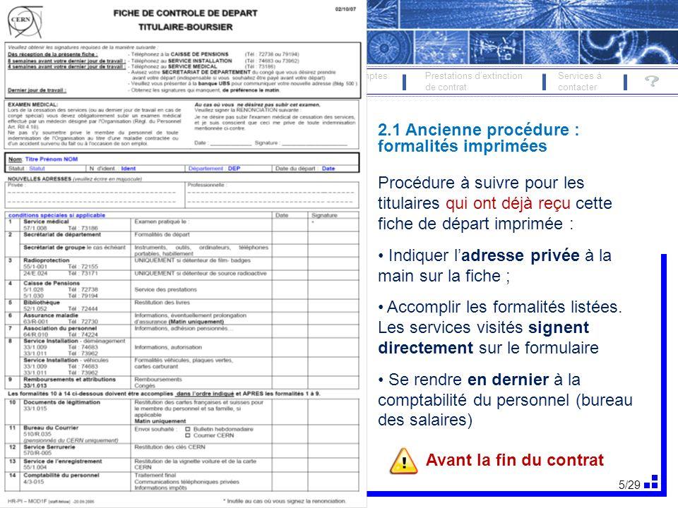 6/29 FORMALITÉS DE DÉPART 19 oct.