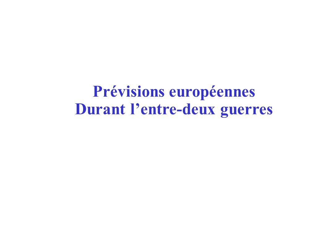 Prévisions européennes Durant lentre-deux guerres