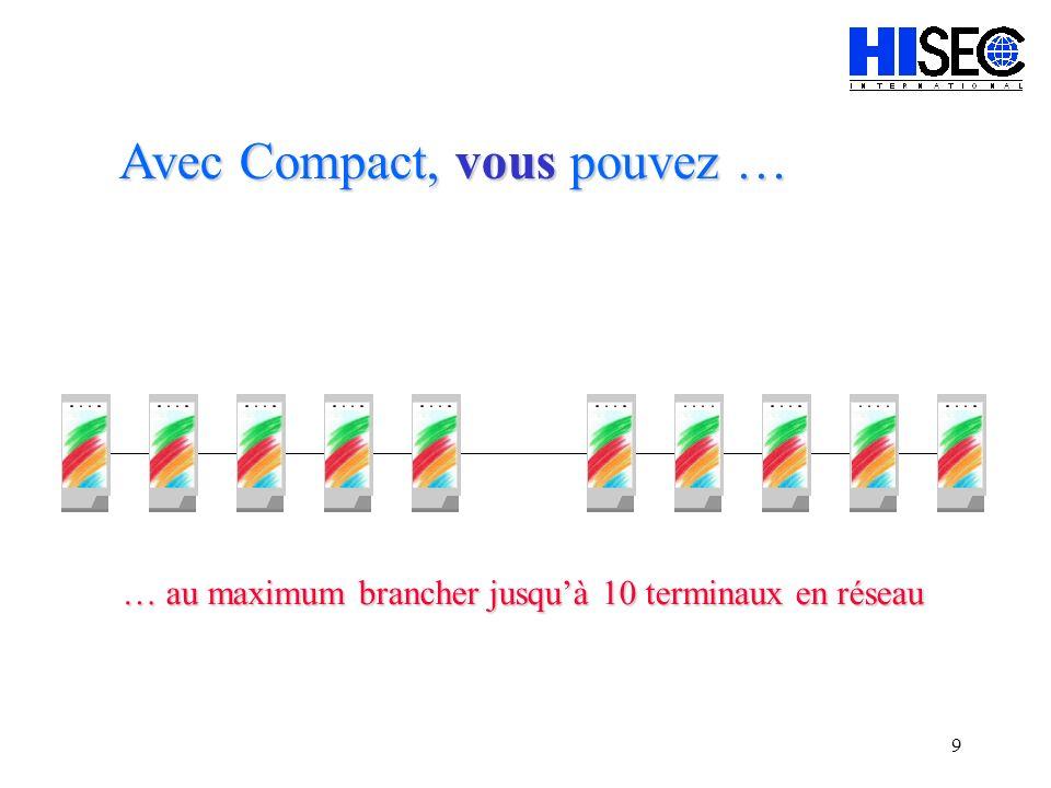 9 … au maximum brancher jusquà 10 terminaux en réseau Avec Compact, vous pouvez …