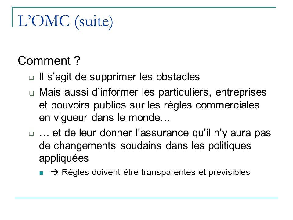 LOMC (suite) Comment .