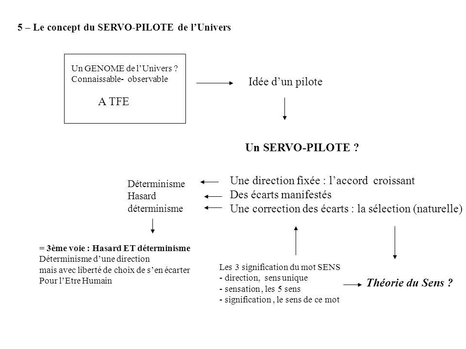 5 – Le concept du SERVO-PILOTE de lUnivers Un GENOME de lUnivers .