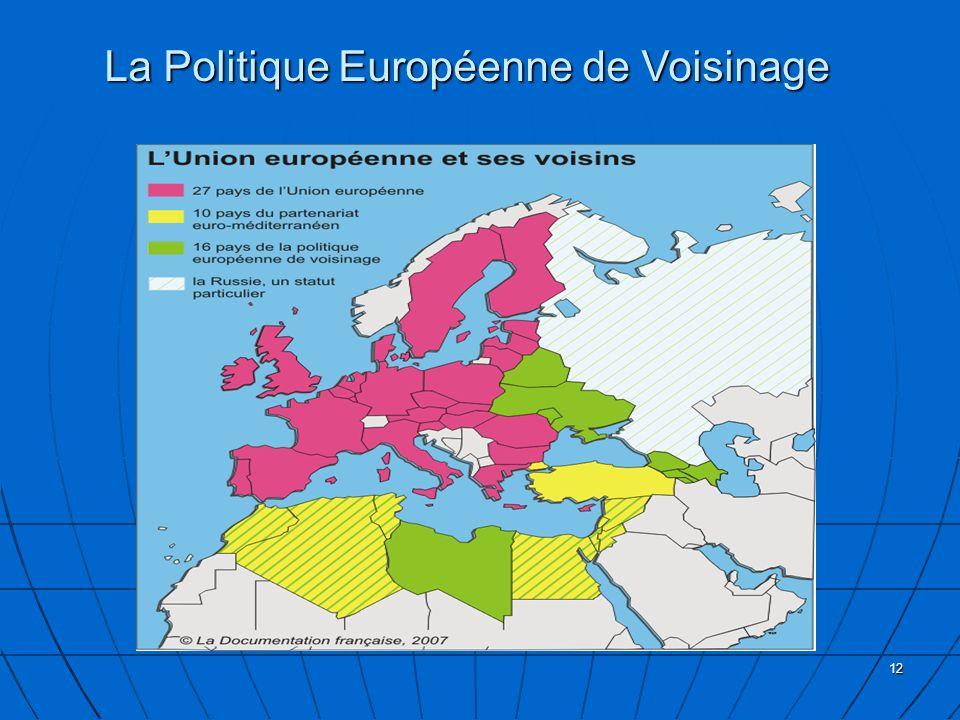12 La Politique Européenne de Voisinage