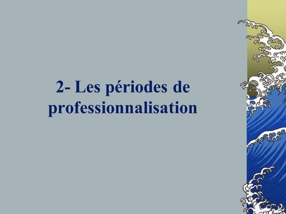 2- Les périodes de professionnalisation