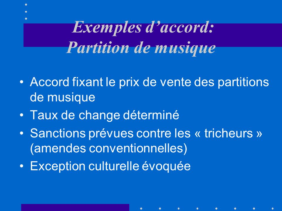 Les accords Concurrence Efficace Suppression ILLICITE Autorisation exceptionnelle Restriction Notable Pas de justificationJustification LICITE Pas notable