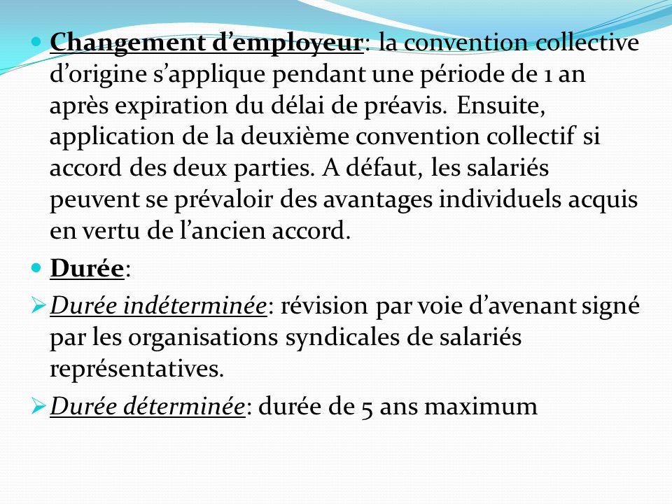 3- Accord dentreprise La négociation: Parties à la négociation: chef dentreprise et organisations syndicales représentatives de lentreprise (délégué du personnel ou salarié pour entreprises de fable dimension).