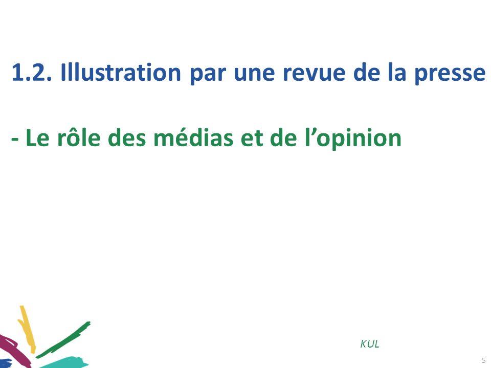 5 KUL 1.2.Illustration par une revue de la presse - Le rôle des médias et de lopinion