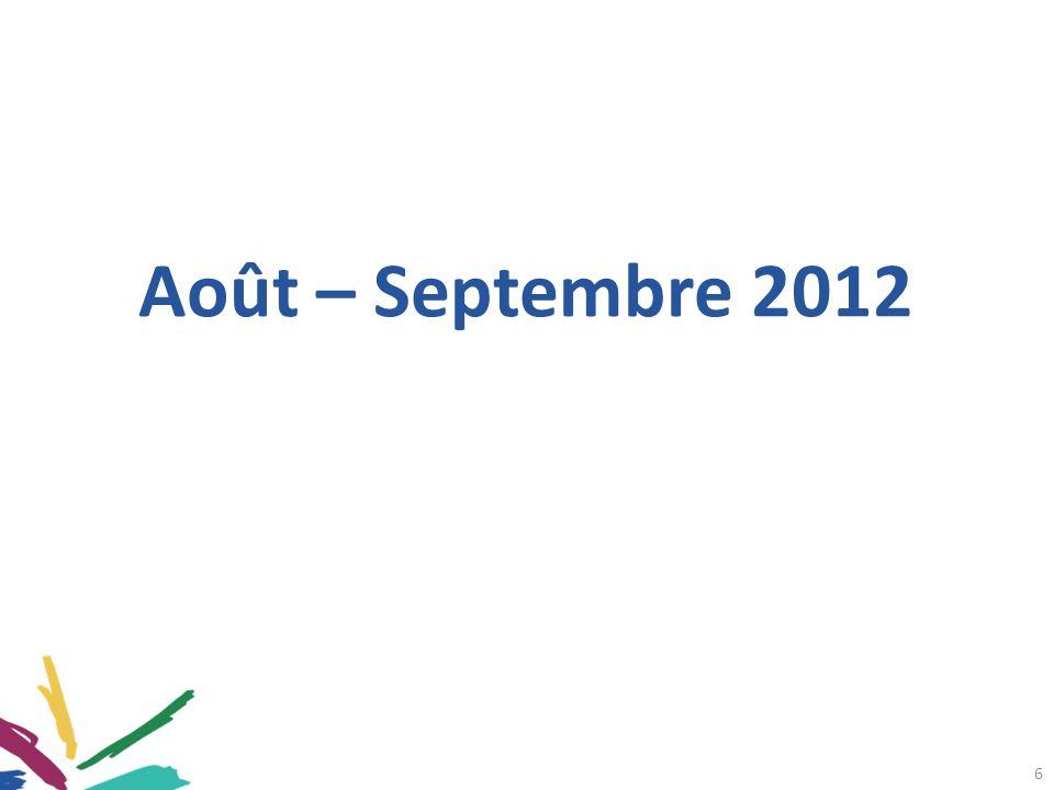 Août – Septembre 2012 6
