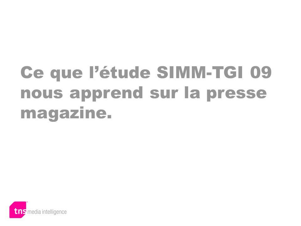 Ce que létude SIMM-TGI 09 nous apprend sur la presse magazine.