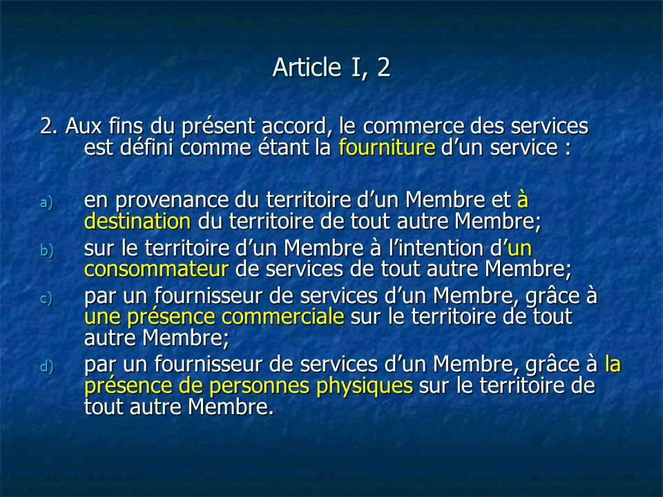 Article XIX, 1 1.