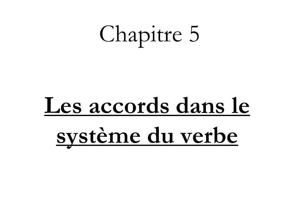 Chapitre 5 Les accords dans le système du verbe