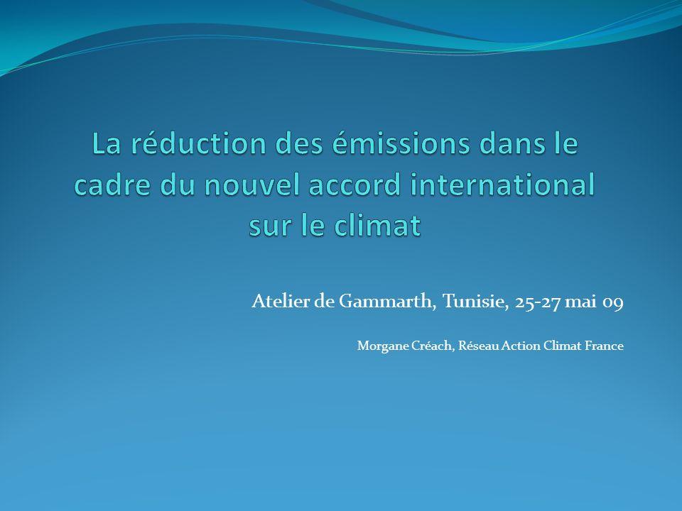 1- Sous la voie Kyoto Pas de consensus sur la fourchette du GIEC de –25/40% des émissions pour 2020.
